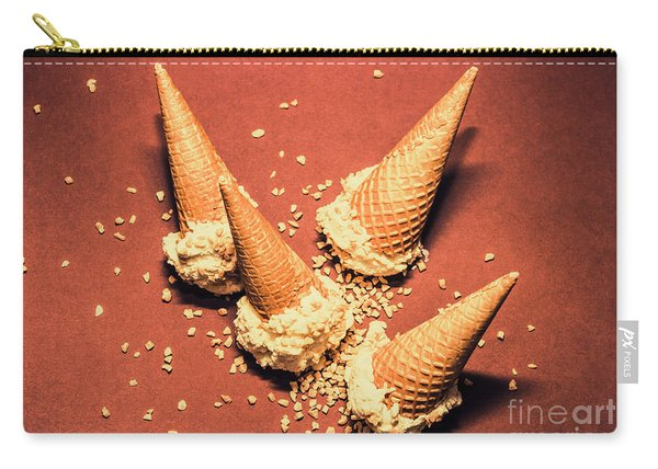 Vintage Summer Ice Cream Spill Carry-all Pouch
