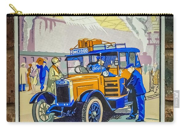 Vintage Taxi Sign Carry-all Pouch