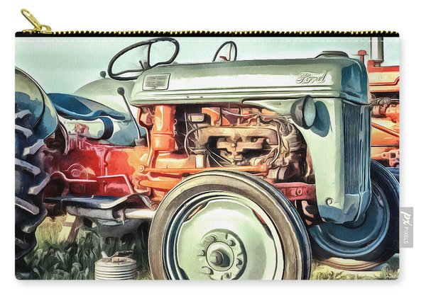 Vintage Tractors Pei Square Carry-all Pouch
