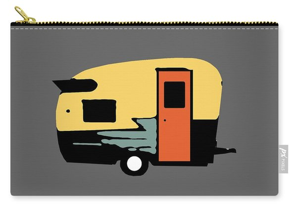 Vintage Travel Camper Transparent Carry-all Pouch