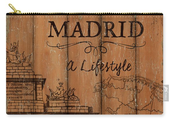 Vintage Travel Madrid Carry-all Pouch