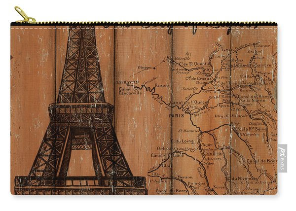 Vintage Travel Paris Carry-all Pouch