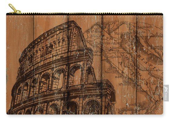Vintage Travel Rome Carry-all Pouch