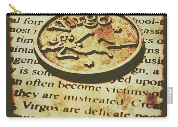 Vintage Virgo Token Scroll Carry-all Pouch