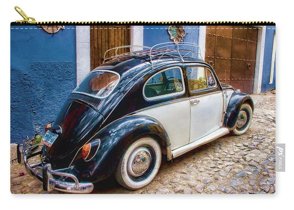Vintage Vw Bug In Mexico Carry-all Pouch
