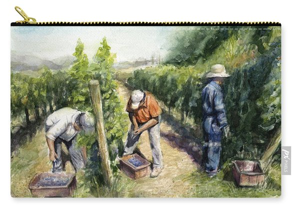 Vineyard Watercolor Carry-all Pouch