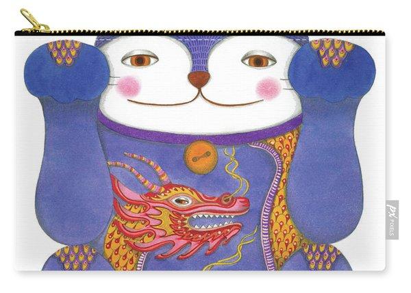 Violet Maneki-neko Carry-all Pouch