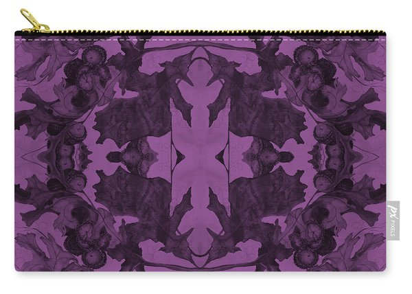 Violet Oak Tree Pattern Carry-all Pouch