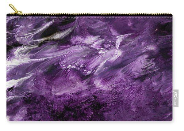 Violet Rhapsody- Art By Linda Woods Carry-all Pouch