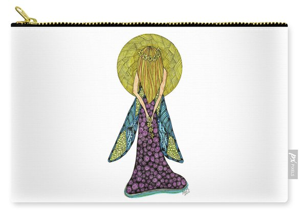Carry-all Pouch featuring the drawing Virgo by Barbara McConoughey