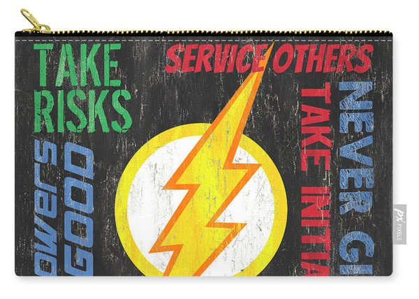 Virtues Of A Superhero 2 Carry-all Pouch