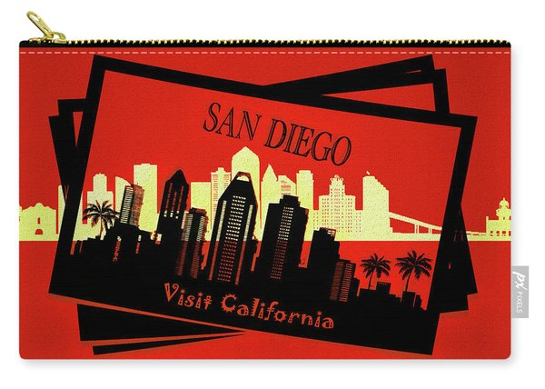 Visit San Diego California Postcard Carry-all Pouch
