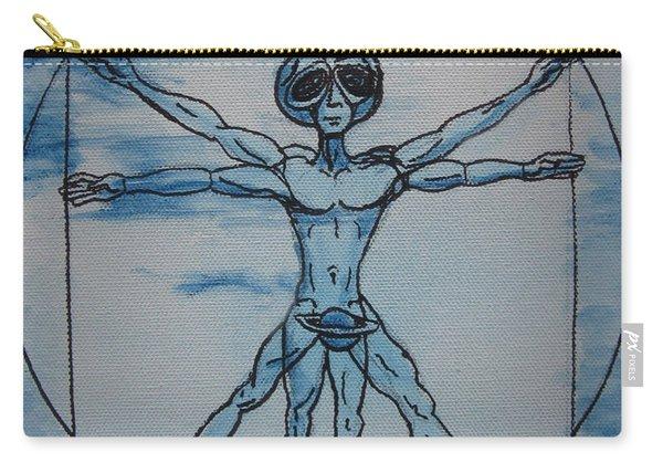 Vitruvian Alien Carry-all Pouch