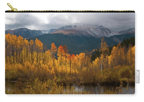 Vivid Autumn Aspen And Mountain Landscape Carry-all Pouch