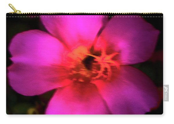 Vivid Rich Pink Flower Carry-all Pouch