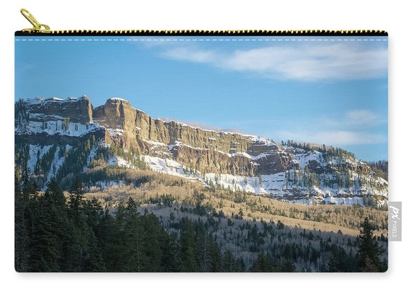 Carry-all Pouch featuring the photograph Volcanic Cliffs Of Wolf Creek Pass by Jason Coward