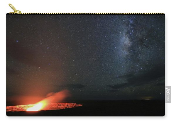 Volcano Under The Milky Way Carry-all Pouch