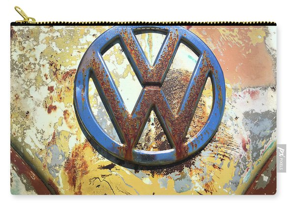 Volkswagen Vw Emblem With Rust Carry-all Pouch