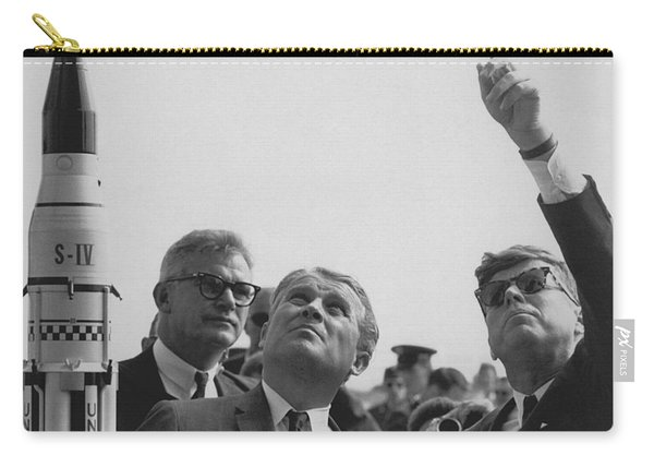 Von Braun And Jfk Looking Towards The Sky Carry-all Pouch