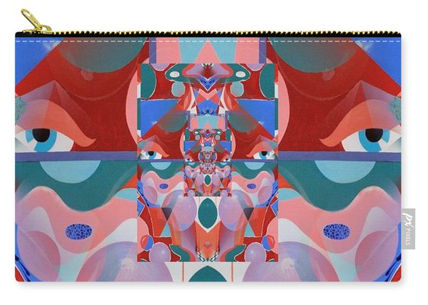 Abstract Vortex In Red Carry-all Pouch