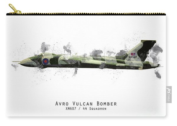 Vulcan Bomber Sketch - Xm607 Carry-all Pouch