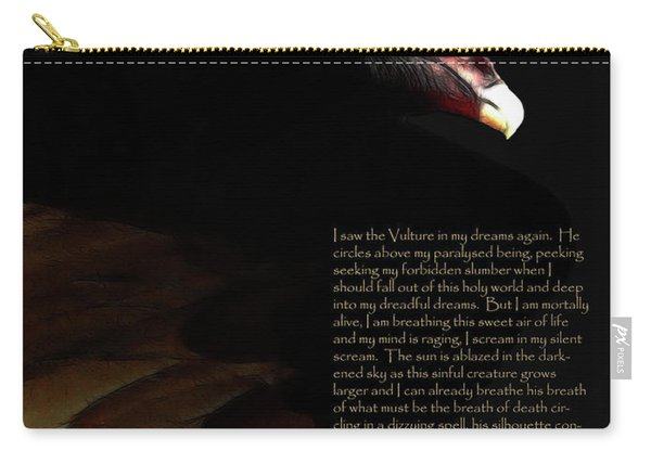 Vulture In My Dreams . With Prose Carry-all Pouch