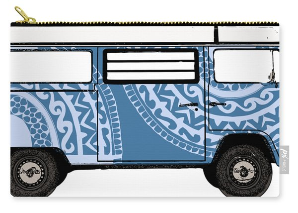 Vw Blue Van Carry-all Pouch