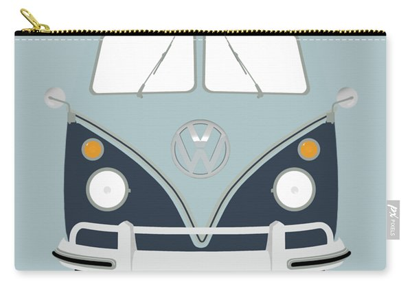 Vw Bus Blue Carry-all Pouch