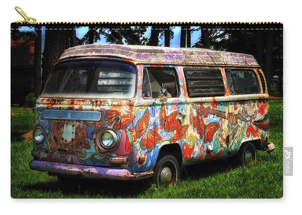 Vw Psychedelic Microbus Carry-all Pouch