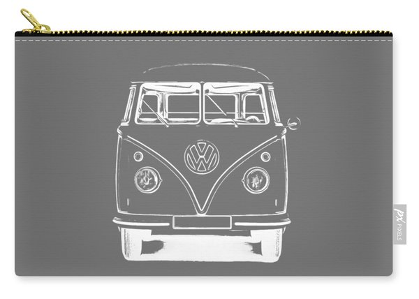 Vw Van Graphic Artwork Tee White Carry-all Pouch