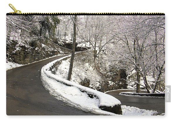 W Road In Winter Carry-all Pouch