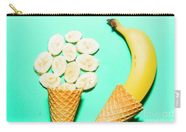 Waffle Cones With Fresh Banana Carry-all Pouch