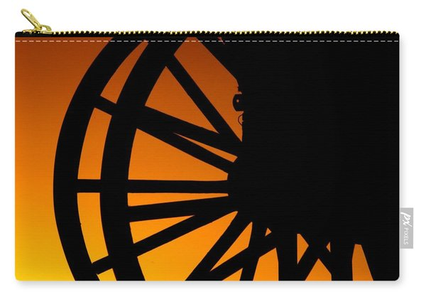 Wagon Wheel Sunset Carry-all Pouch