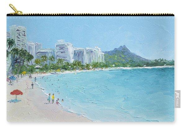 Waikiki Beach Honolulu Hawaii Carry-all Pouch