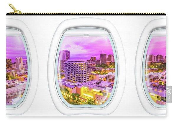 Carry-all Pouch featuring the photograph Waikiki Porthole Windows by Benny Marty