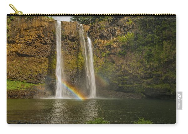 Wailua Falls Rainbow Carry-all Pouch
