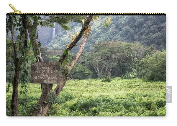 Waipio Valley Road Rules Carry-all Pouch