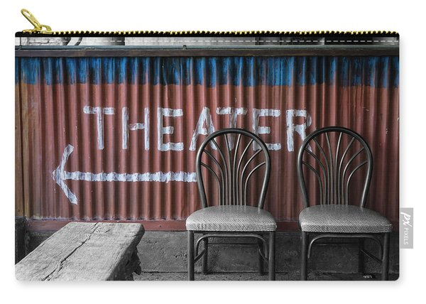 Corrugated Metal Theater Sign Carry-all Pouch