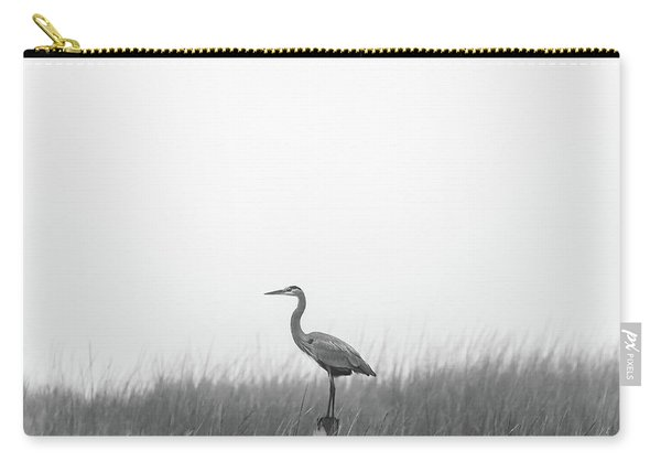 Carry-all Pouch featuring the photograph Waiting On The Fog To Clear by Donnie Whitaker