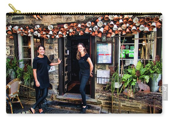 Waitresses At Outdoor French Terroir In Old Quebec City Carry-all Pouch