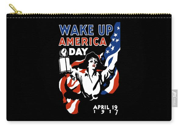 Wake Up America Day - Ww1 Carry-all Pouch