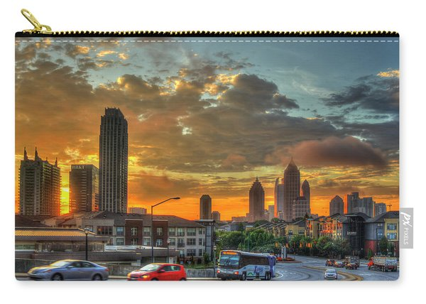 Waking Up Midtown Atlanta Towers Over Atlantic Commons Art Carry-all Pouch