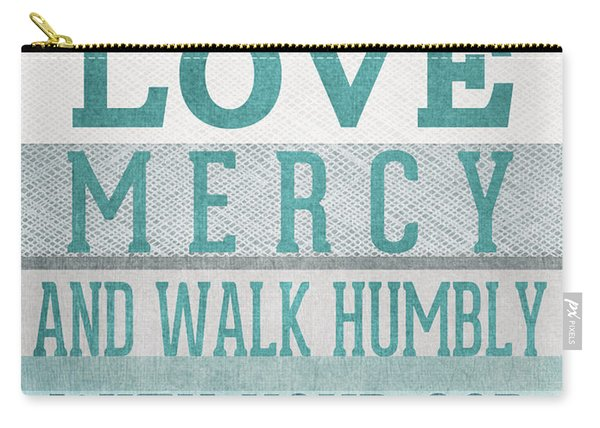 Walk Humbly- Micah  Carry-all Pouch