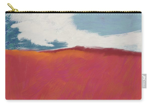 Walk In The Field- Art By Linda Woods Carry-all Pouch