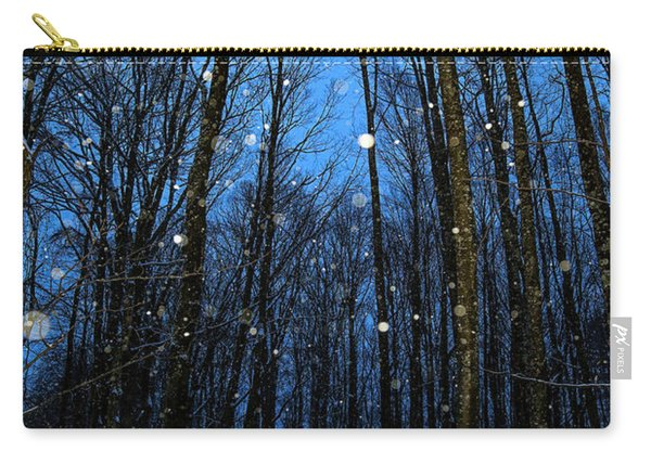 Walk In The Snowy Woods Carry-all Pouch