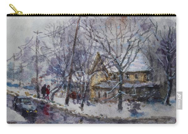 Viola And I Walking In The Winter Carry-all Pouch