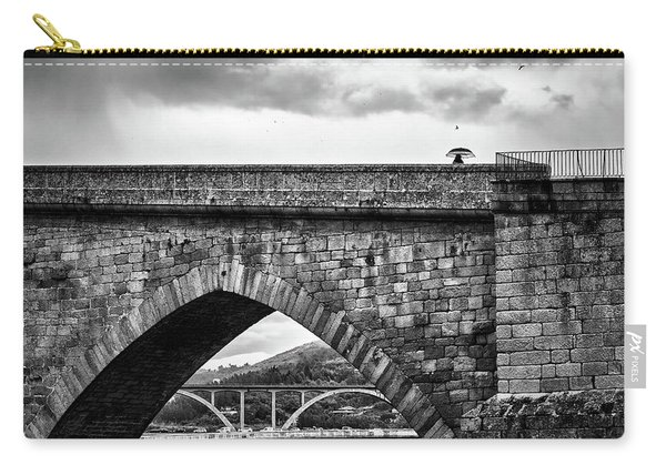 Walking On The Roman Bridge Carry-all Pouch