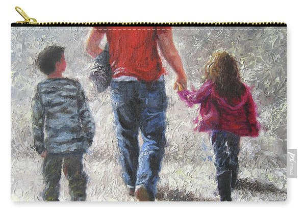 Walking With Dad Carry-all Pouch