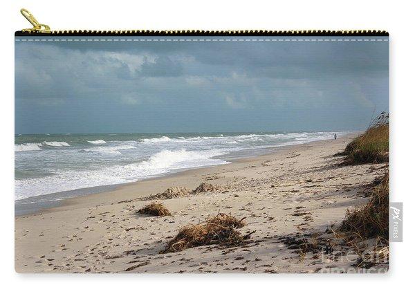 Walks On The Beach Carry-all Pouch