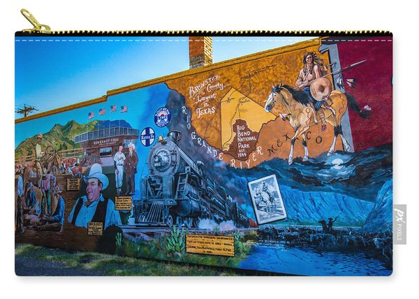 Wall Mural In Alpine Texas Carry-all Pouch